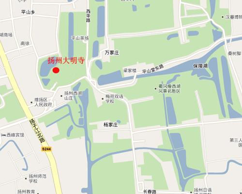 大明寺位于扬州城区西北郊蜀冈风景区之中峰,是集佛教庙宇